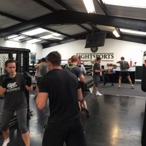 Boxing in Essex sparring