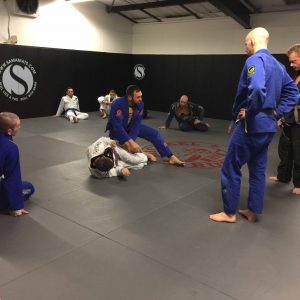 Mike teaching BJJ in Essex