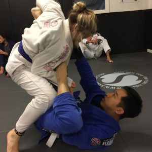 Students learning BJJ in Essex
