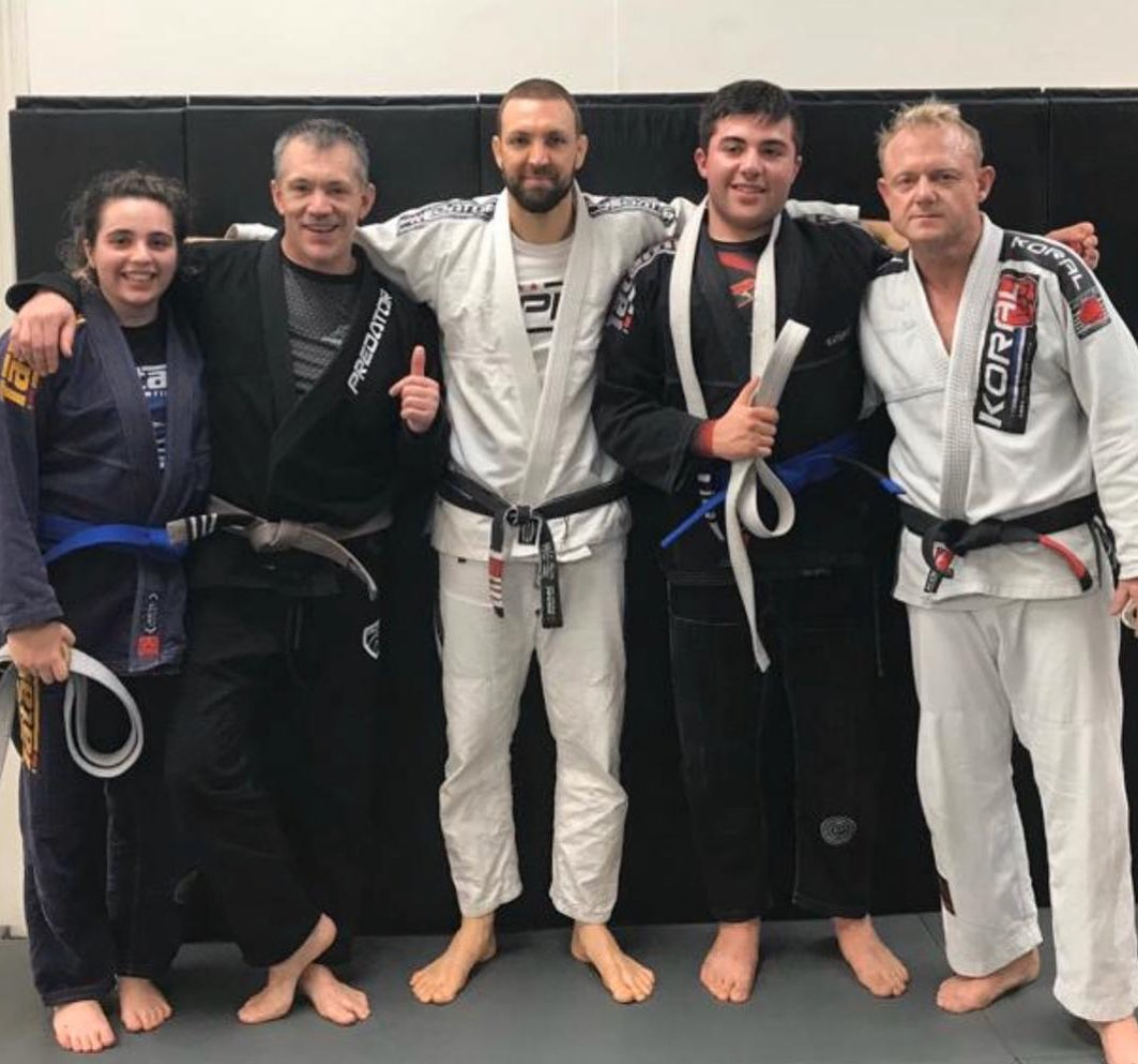 Chiara and Tom Melillo get promoted to Blue Belt